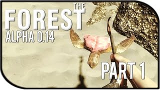The Forest 0.14 Gameplay Part 1 – Starvation, Thirst, Drowning, And Turtles (new Update!)