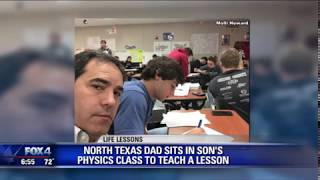 Dad sits in son's class to teach him a lesson