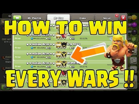 How To Win EVERY WAR In Clash Of Clans!!!