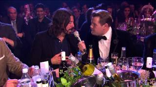 Dave Grohl Talks To James Corden | BRITs 2013