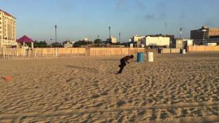 MeSean Williams 10 Years Old 6am Beach Workout August 20th 2016 Asb...