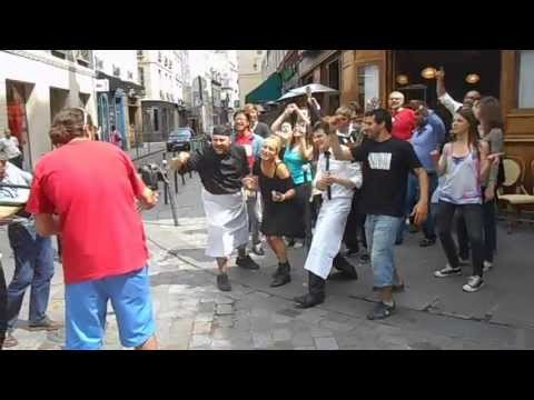 Paris 2013 summer -- Xavier makes a video at Les Philosophes