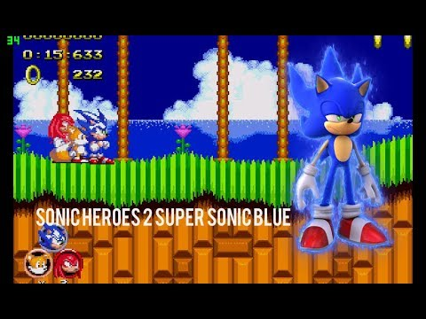 Sonic Heroes 2 Super Sonic Blue