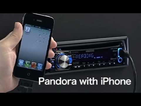2012 iPhone Using Pandora App - Kenwood Entry USB/CD Receiver wmv