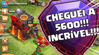 CHEGUEI A 5600 TROFÉUS E FUI PARA A GUERRA!   Clash Of Clans