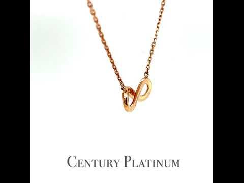 世紀白金 18K金 天然鑽石項鍊 愛無限 DS7090