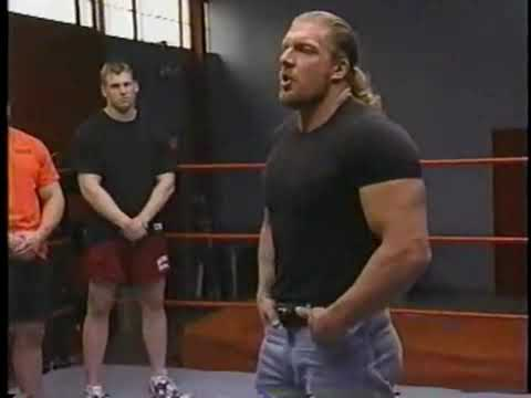 Triple H lectures Tough Enough cast.
