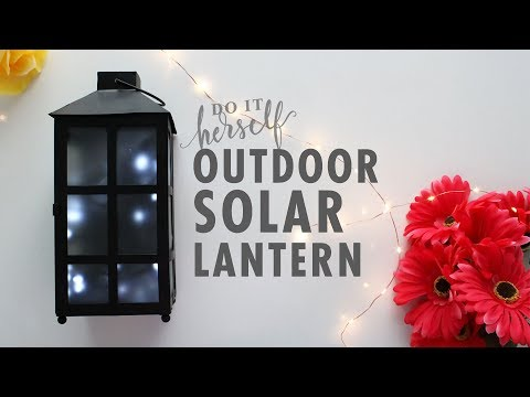 DIY Outdoor Firefly Solar Lantern (Easy and Cheap Lighting Idea!)