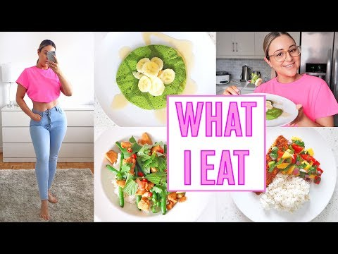 WHAT I EAT IN A DAY TO LOSE WEIGHT 2019 - Matcha Protein Pancakes!