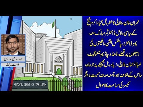 Details of Important Cases Hearing in Supreme Court of Pakistan by Siddique Jaan 18 Oct 2018