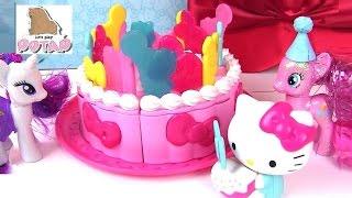 Май Литл Пони Мультик! Торт для Хелло Китти! Hello Kitty Birthday Party! Видео для Детей. Распаковка(Рарити пригласили на день рождения!!! И кто же вы думаете??? Это Хелло Китти!!! Рарити вместе с Пинки Пай будут..., 2016-10-04T01:06:49.000Z)