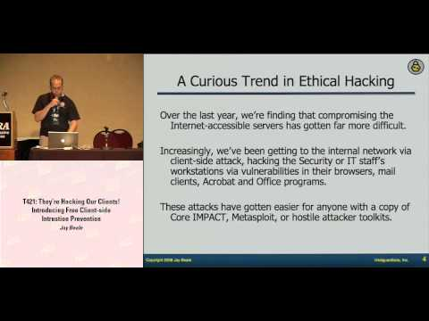 DEF CON 16 - Jay Beale: They're Hacking Our Clients!