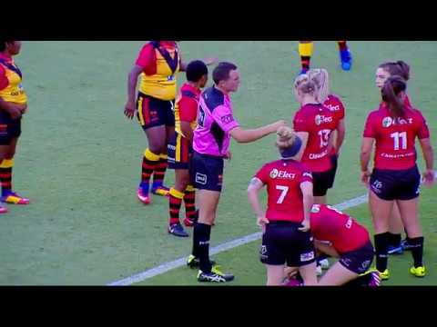Canada Ravens vs. Papua New Guinea Orchids: First Half - 2017 Women's Rugby League World Cup