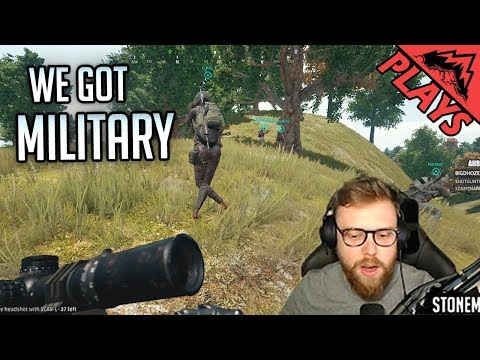 WE GOT MILITARY - PlayerUnknown's Battlegrounds Gameplay #127 (PUBG First Person 8-man Squads)