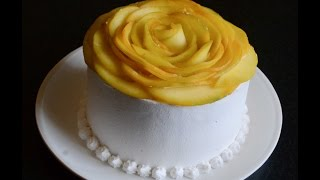 How To Make Eggless Mango Cream Cake - Video Recipe
