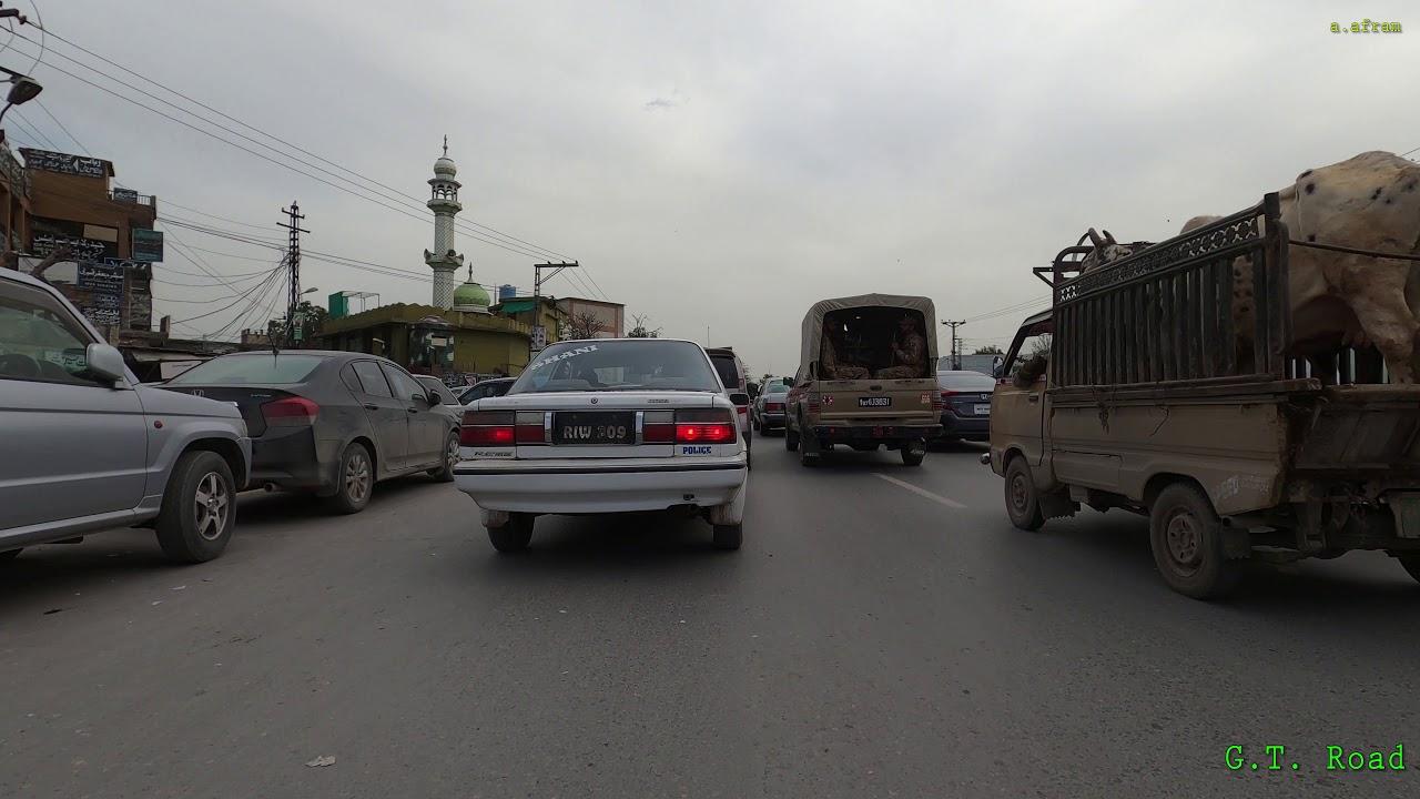 [4k] Driving from Saddar to Ayub Park Rawalpindi on GT Road Peshawar Road Kachehri Chowk Pakistan