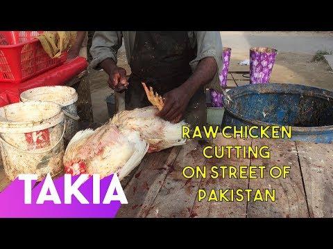 Raw Street Chicken Cutting Skills Street Food Of Bahawalpur Pakistan