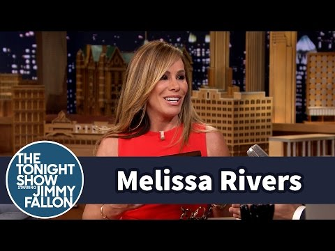 Melissa Rivers Gives Jimmy a Joan Rivers Joke Card