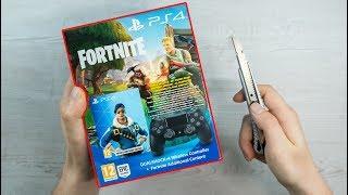PlayStation 4 - FORTNITE Controller Unboxing + ROYALE BOMBER SKIN BUNDLE