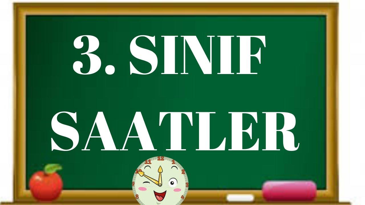 3. SINIF MATEMATİK SAATLER- DİLEK HOCA