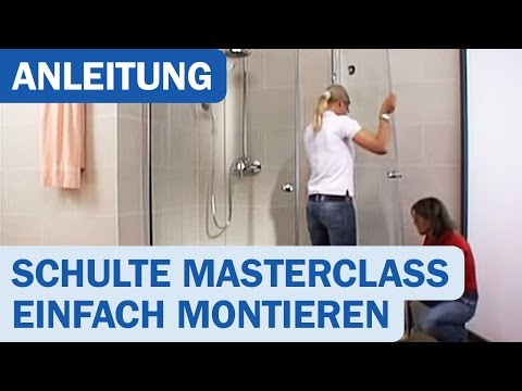 duschkabinen montage schulte masterclass youtube. Black Bedroom Furniture Sets. Home Design Ideas