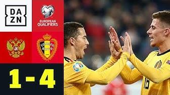 Hazard-Brüder und Lukaku erringen Gruppensieg: Russland - Belgien 1:4 | EM-Quali | DAZN Highlights