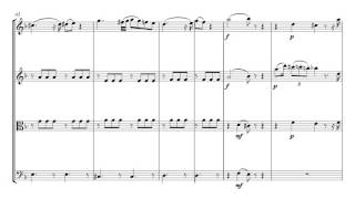 Mozart Fantasy in D | String Quartet Sheet Music