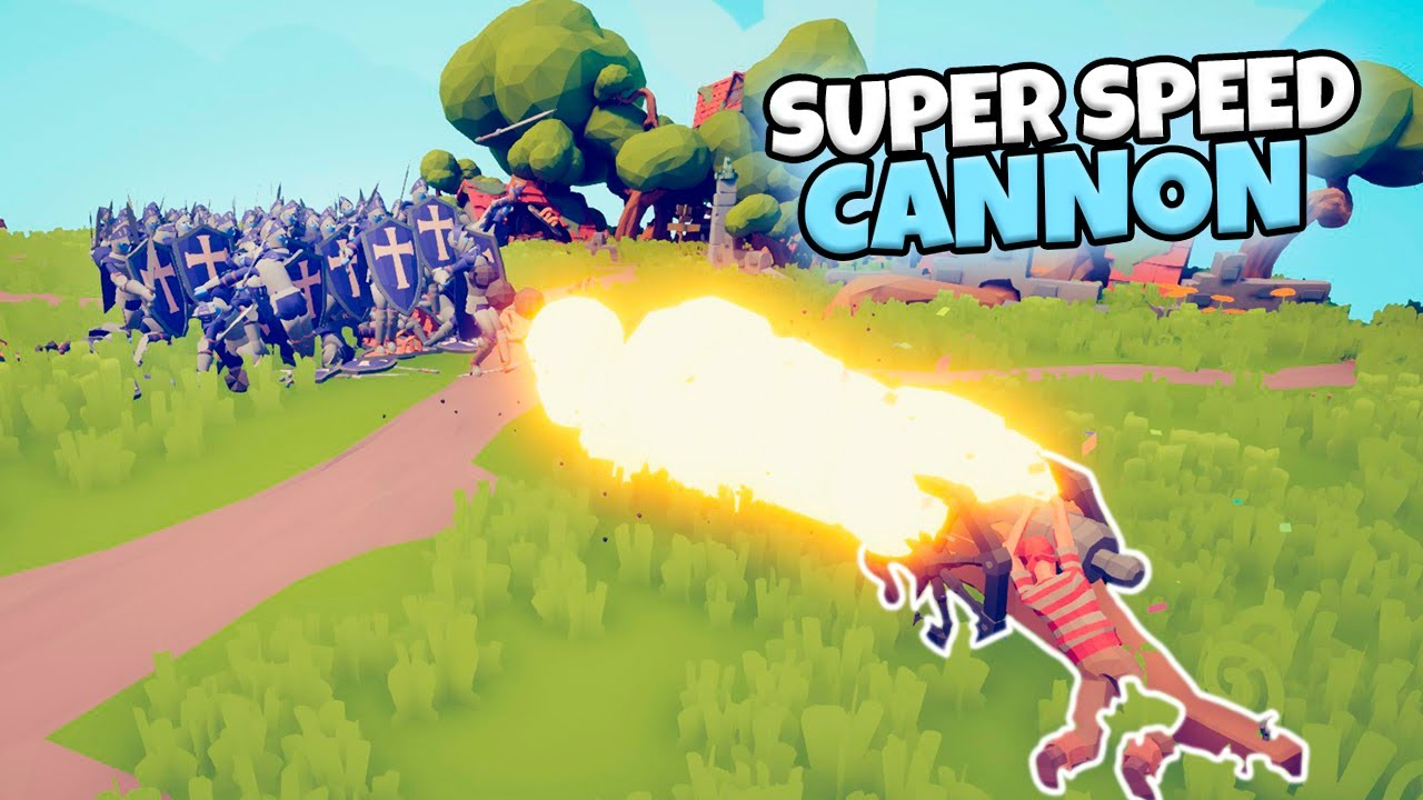 SUPED SPEED CANNON VS EVERY FACTION. FAST ATTACK WITH CHEERLEADER | TABS GAMEPLAY