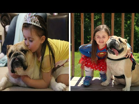 Thumbnail: Little Girl And Dog Are Best Of Friends