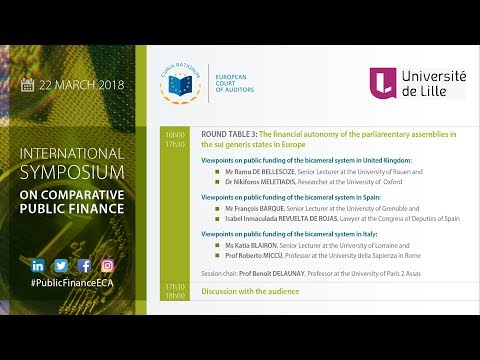 International symposium on Comparative Public Finance: First part, round table 3