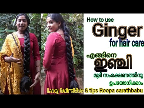 How to use Ginger for hair care. എങ്ങിനെ ഇഞ്ചി മുടി സംരക്ഷണത്തിനു ഉപയോഗിക്കാം.
