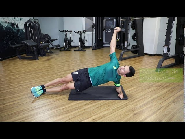 Oblicuos con apoyo lateral de antebrazo