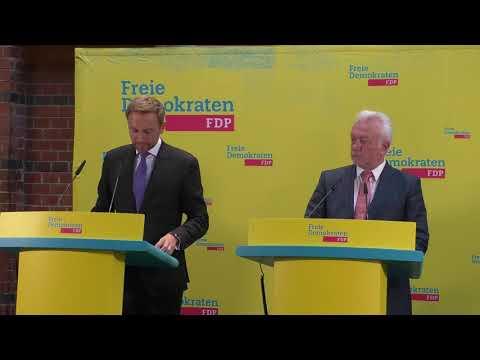 Pressekonferenz mit Christian Lindner und Wolfgang Kubicki
