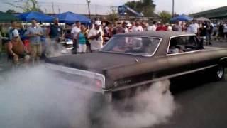 64 impala starting burnouts at syracuse nationals 2010