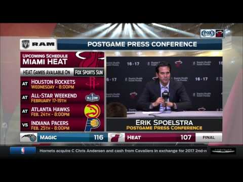 Erik Spoelstra -- Miami Heat vs. Orlando Magic 02/13/2017