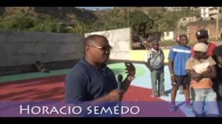 NobidadeTV (Assomada, Cabo Verde)- placa desportiva dos Engenhos, na ilha de Santiago