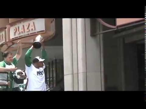 2008 Boston Celtics World Champs Parade - Big 3 Up Close!