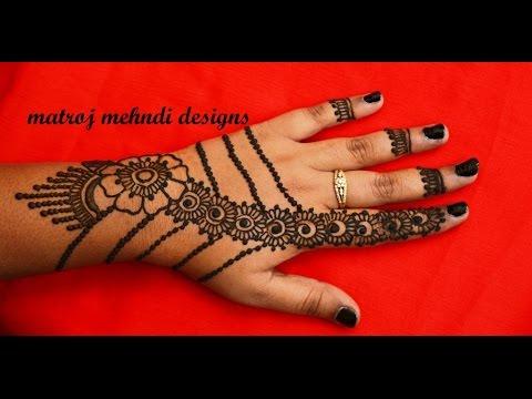 Simple Stylish Easy Mehndi Henna Design For Hands Matroj Mehndi