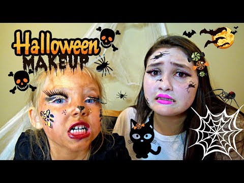 HALLOWEEN MAKE UP gone WRONG!  FAILS and MORE FAILS! The TOYTASTIC Sisters. HALLOWEEN DIY REVIEW