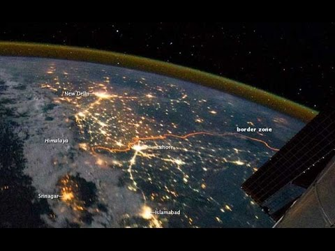 Nasa releases Indo-Pak border Video || India Pakistan Border Lights clearly shown 2015 News