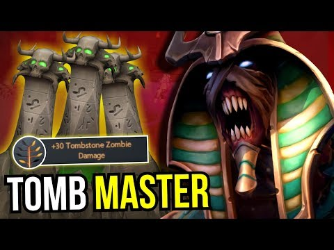TOMB MASTER - Refresher Orb Undying +30 dmg Zombie 7.08 Dota 2   Upside Down 37