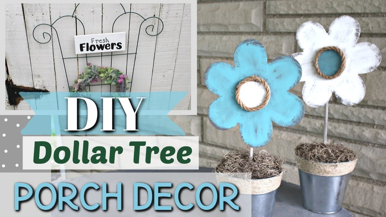 DIY DOLLAR TREE Porch Decor  Outdoor Porch Decor DIY  Krafts by Katelyn