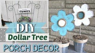 DIY DOLLAR TREE Porch Decor | Outdoor Porch Decor DIY | Krafts by Katelyn