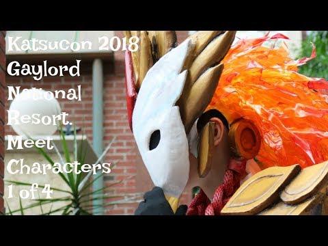 2018 Katsucon @ Gaylord 1 Of 4 - MEET CHARACTERS - Vlog 073