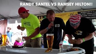 84oz DAS BOOT Beer & Triple Burger Eating Contest vs Ramsey Hilton!!