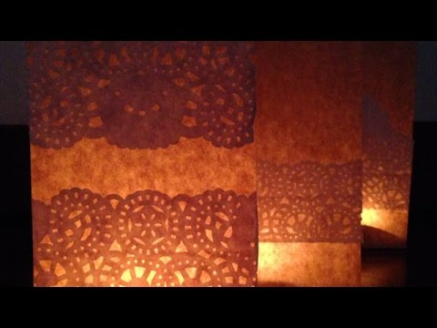 How To Make Elegant Patterned Paper Luminaries - DIY Home Tutorial - Guidecentral