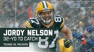 Aaron Rodgers Caps Off 98-Yard Drive with 32-Yard TD Pass to Jordy Nelson | Texans vs. Packers | NFL