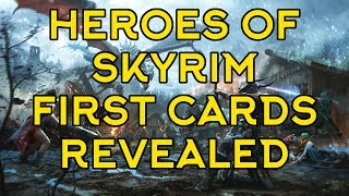 Heroes of Skyrim - Looking at the first revealed cards