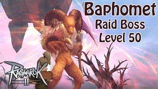 Ragnarok Online 2 - Baphomet  (Raid Boss Lv50) Knight Offtank [1080p Gameplay]