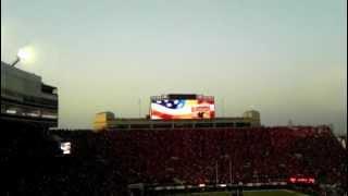 flyover flypast flyby wisconsin badgers at nebraska cornhuskers football game september 29 2012